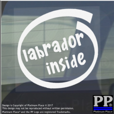 1 x Labrador Inside-Window,Car,Van,Sticker,Sign,Vehicle,Adhesive,Dog,Pet,Board